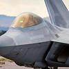 F-22 Raptor close-up.  Nellis AFB, Las Vegas, Nevada