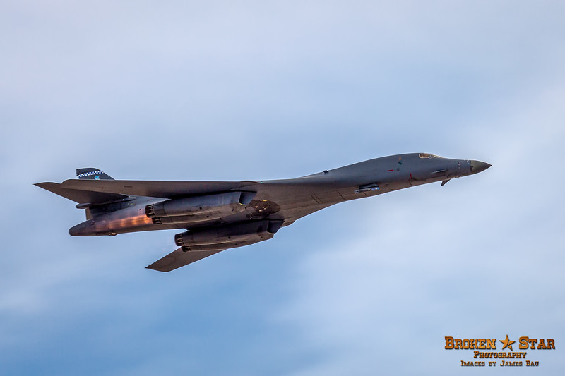 Full afterburners and wings swept back for top speed.