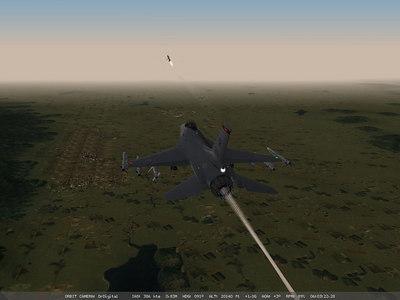 Thats me firing off a HARM anti radar missile.