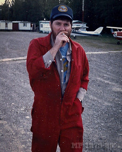 Dale Wilkie puffs a fag at Boston Brook about 1985