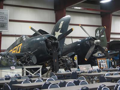 Grumman F6F-5 Hellcat and Vought XF4-U Corsair