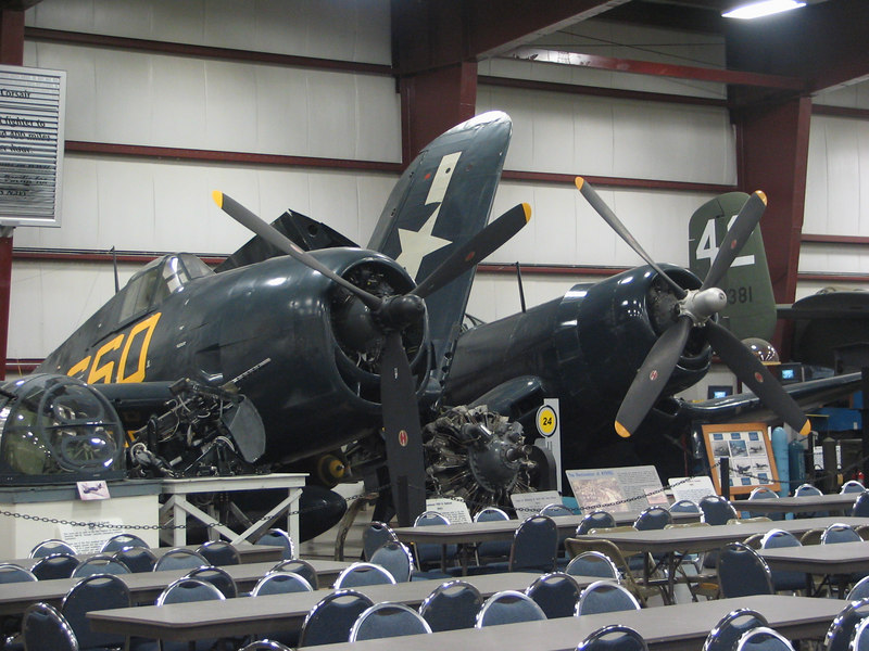 Grumman F6F-5 Hellcat and Vought XF4-U Corsair