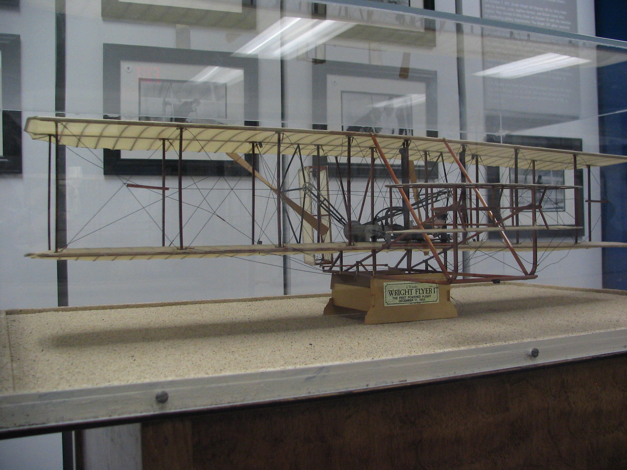 Wright Brothers aircraft replica
