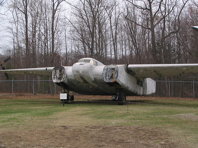 Burnelli CBY-3 Loadmaster. This unusual design used the fuselage to aid in achieving lift. Only eight prototypes were built between 1923 and 1945 and this is the sole surviving example.