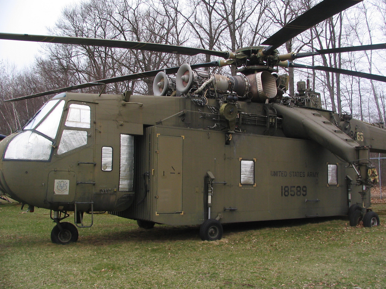 Sikorsky CH-54B Skycrane. This awkward but amazing machine can carry 42,000 pounds for as much as 230 miles up to 126 mph.