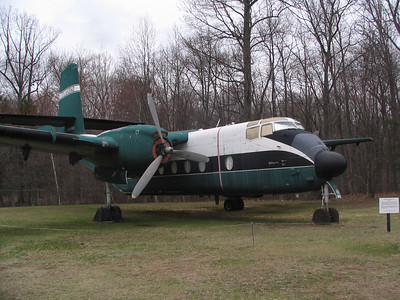 DeHavilland Caribou C-7A. These planes were famous for their performance in adverse weather. This example was flown to Bradley as the last official flight of the C-7A  in US military service. A C-7A saved the expedition to salvage the B-29 bomber in Greenland by being able to land in a muddy tundra.