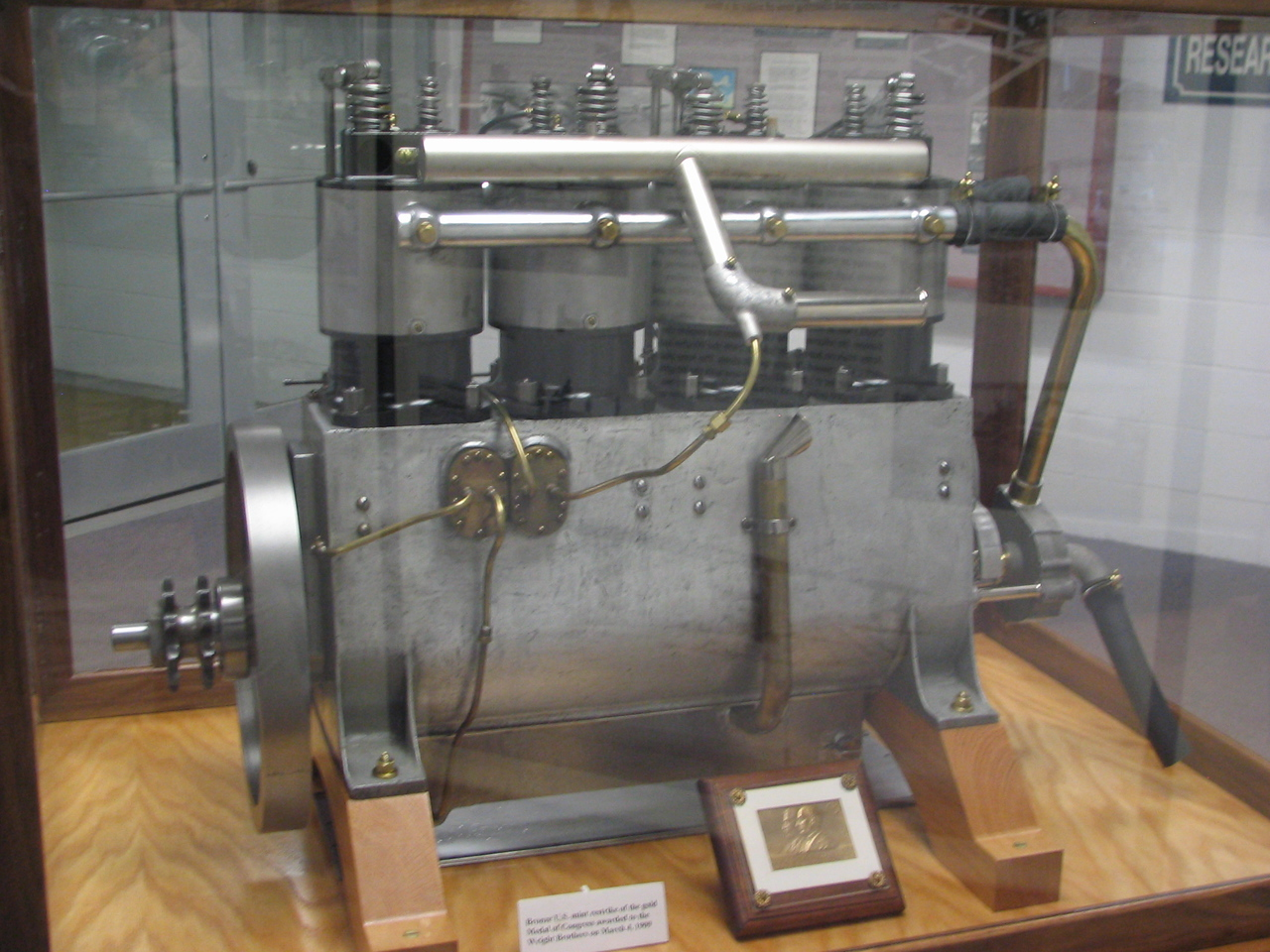 Wright Brothers engine replica