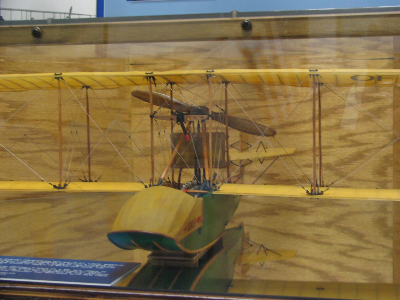 A replica of the world's first airliner. It was used between St. Petersburg and Tampa.