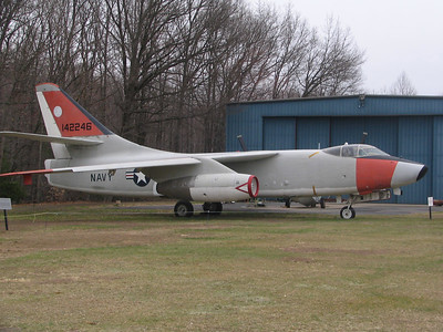 Douglas A-3D Skywarrior. This bomber was used from the 1950s right up to the 1970s. When introduced it marked the beginning of the Navy's use of strategic strike aircraft (read: nuclear bombs).