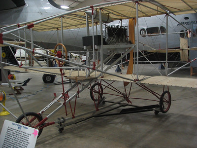 Bunce-Curtiss Pusher. This particular airplane contains parts original to the 1912 version, designed, built, and flown by 17-year old Howard Bunce, of Berlin, CT.
