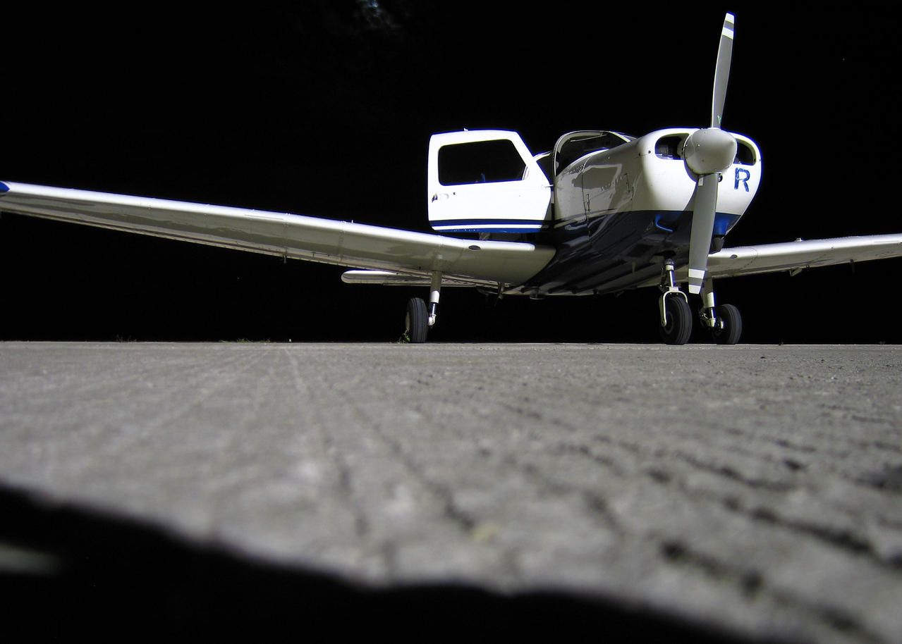 The only active aircraft that night was ours.