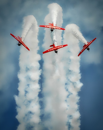 North American Aviation T-6 Texan - Aeroshell - Chicago Air & Water Show - Chicago, Illinois - Photo Taken: August 18, 2012