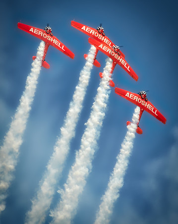 North American Aviation T-6 Texan - Aeroshell - Chicago Air & Water Show - Chicago, Illinois - Photo Taken: August 18, 2013
