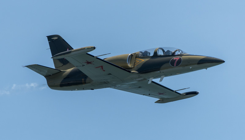 Larry Labriola in his Czech L-39 Jet Trainer