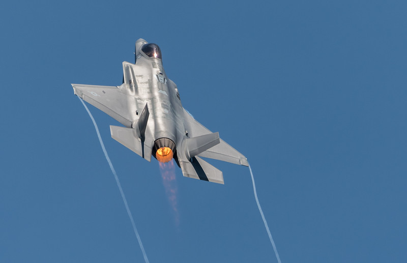 USAF F-35A Lightning II in a climb