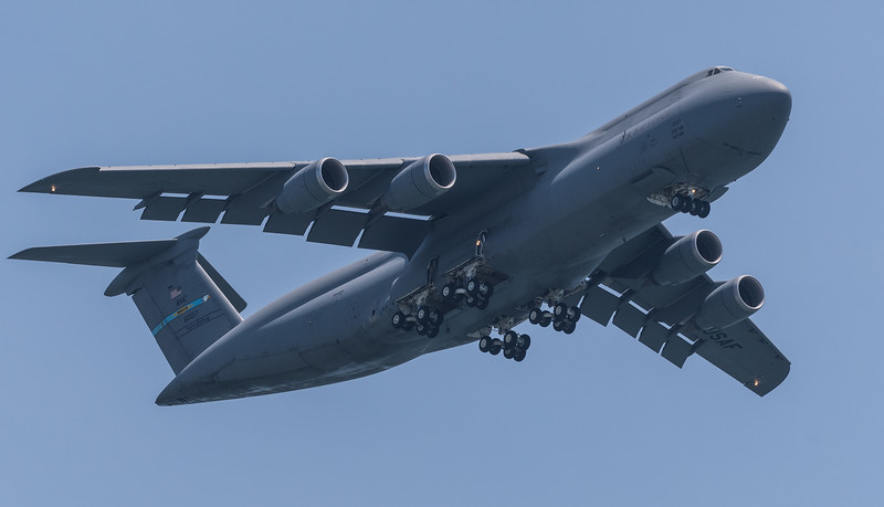The mighty C-5M Super Galaxy from Dover Air Force Base.