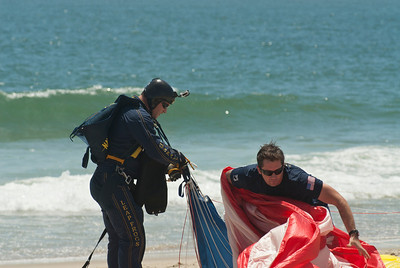 SOC (SEAL) Brad Woodard being helped by his LeapFrog team mate