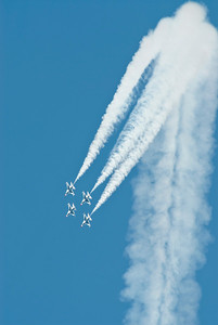 USAF T-birds at the end of their loop