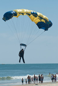 Navy SEAL flares before touchdown