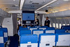 48-seat classroom at the front of the aircraft includes a large-screen video display.