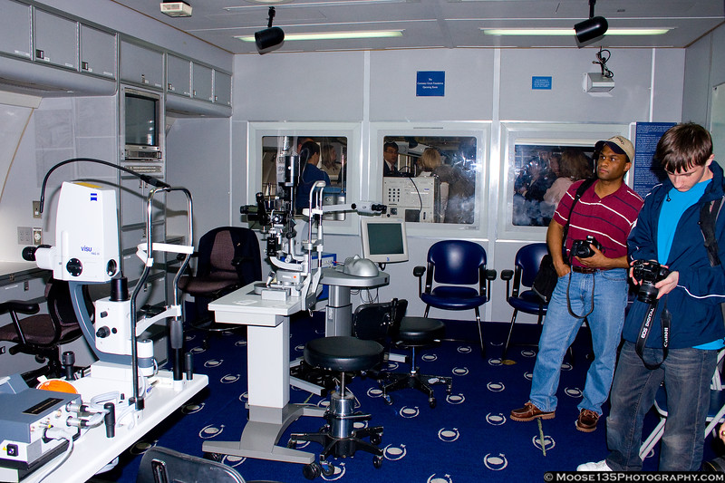 Senga and Luke in the Laser Treatment Room.
