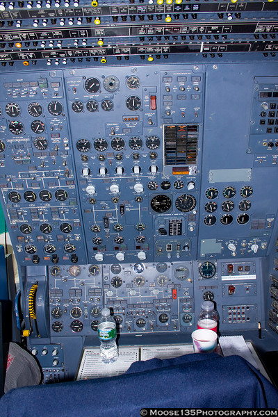 Flight engineer station.