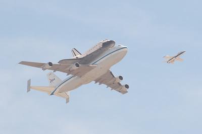 Shuttle Orbiter Endeavour Fly-By (September 21, 2012)