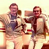 Bill & John just after having the Mooney repainted in 1976 for the Trans Australia Air Race