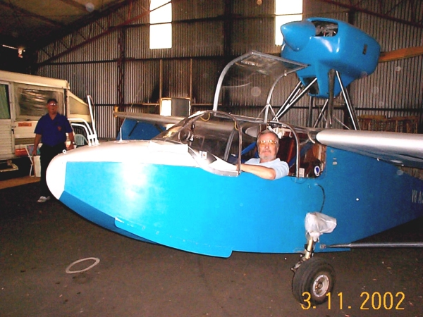 Me test sitting a Volmer Sportsman VJ22 at Wedderburn. Always wanted to build one of these. Visited one under construction in Caringbah in the mid 70's