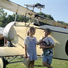 Fran and Eli ham it up in fron to Nieuport 11