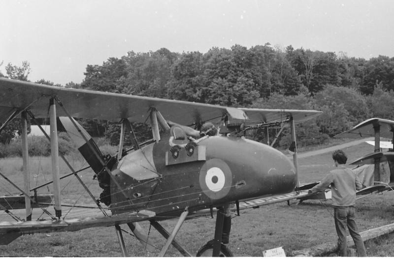 Pilot climbing aboard F.E.8