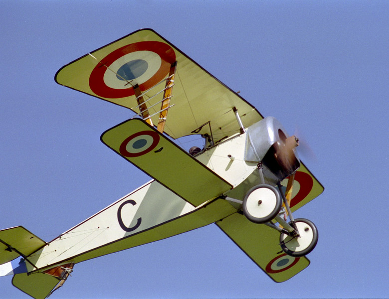 Nieuport 11 in the air over Rhinebeck in 1996