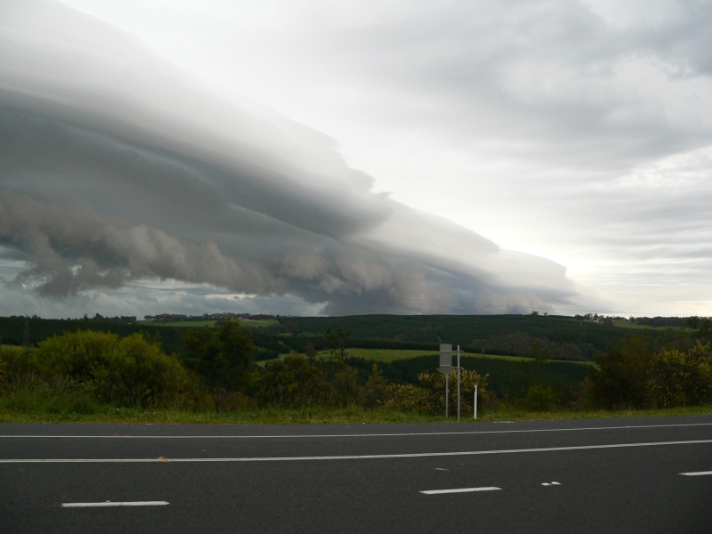 West of Lithgow, impressive cloud formations