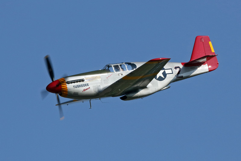 NORTH AMERICAN P-51C in Tuskegee colors. Seen at the EAA Air Adventure 2012 in Oshkosh