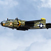 "North American B-25 bomber ""Georgie's Gal"" flying over Oshkosh"