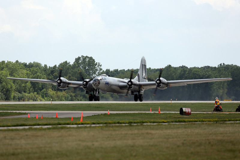 """Boeing B-29 """"Fifi"""" taking off at Oshkosh 2012"""