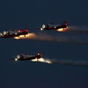 Part of the night air show at the EAA Air Adventure 2012