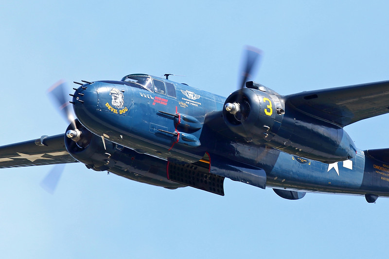 "B-25/PBJ ""Devil Dog"" at theEAA Air Adventure 2012"