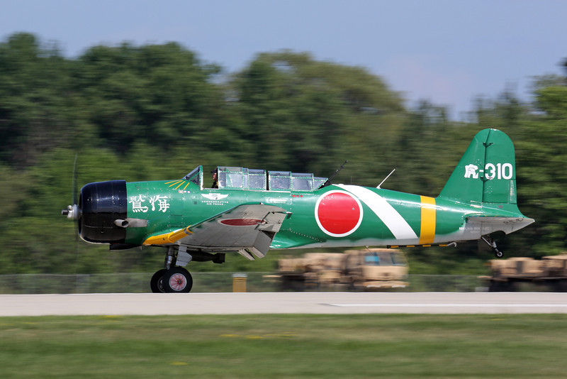 HARVARD MK IV N2047 modified to look like a Japanese attack aircraft for the Tora Tora Tora re-enactment.