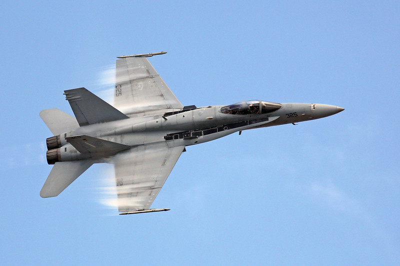 """F-18 """"Hornet"""" in a high speed fly-by"""