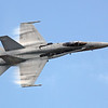 "F-18 ""Hornet"" in a high speed fly-by"