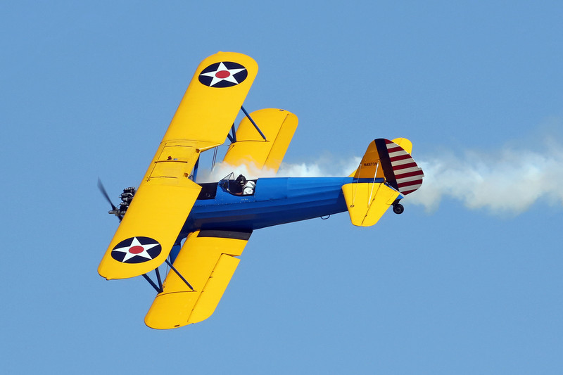 John Mohr in his PT17 performing at Oshkosh