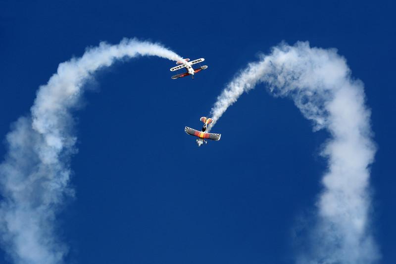 The Iron Eagle Aerobatic Team performing at Oshkosh 2012.