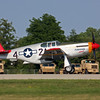 Tuskegee Airmen P-51 Mustang taking off at Oshkosh 2012