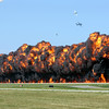 Big explosion during the Tora Tora Tora re-enactment at the EAA Air Adventure 2012 airshow.