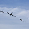 Bomber formation fly over at the 2013 EAA AirVenture, Oshkosh Wisconsin.