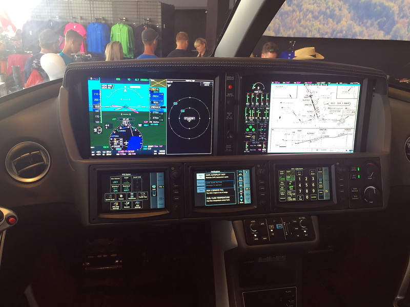 Cirrus private jet cockpit