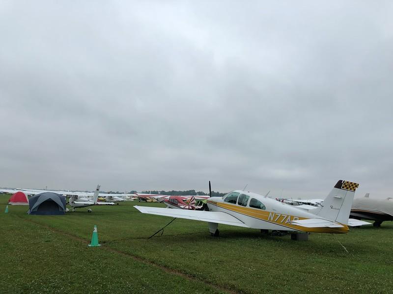 landed at KOSH under IFR skies