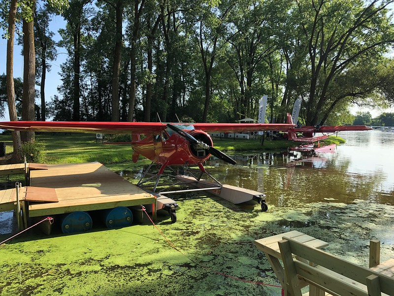 Oshkosh seaplane base provided a shady respite from the bustle of the main field