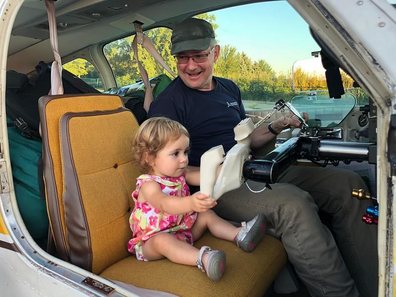 Keziah Joy takes her co-pilot responsibility seriously